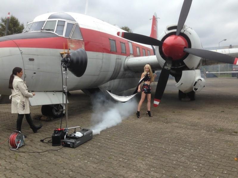 Diana Laptschenko im Flugzeugmuseum Berlin 2